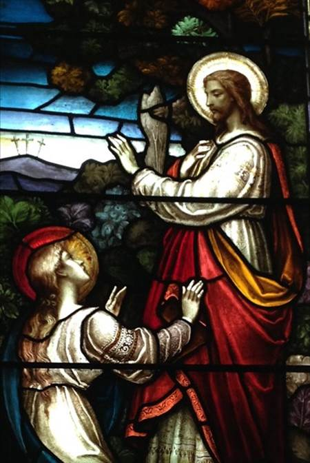 Mary and Jesus in the garden, NUMP sanctuary window