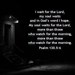 Sunday, March 29, 2020 Sickness – Wait, Hope, Watch